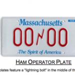 MA ham operator plate sample