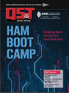 October 2020 QST Cover Ham Radio Bootcamp