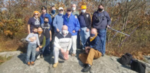 STARS, WARS members posed atop Wachusett Mountain for Summits On The Air