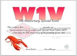 W1V WSSM special events station QSL card