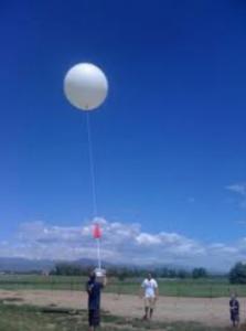 photo of high altitude balloon launch