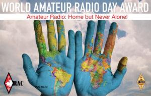 RAC World Amateur Radio Day colorful flyer