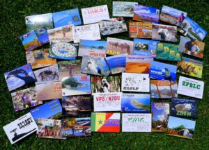 photo of QSL cards